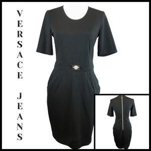 Versace Jeans Authentic LBD Full Back Zipper Sz 8